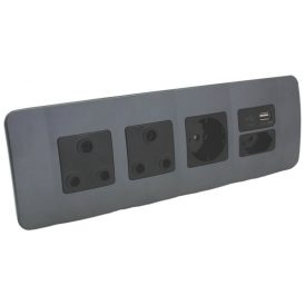 Double RSA Sockets, Single RSA Schuko, Single USB Charger and Single RSA V-Slim 4