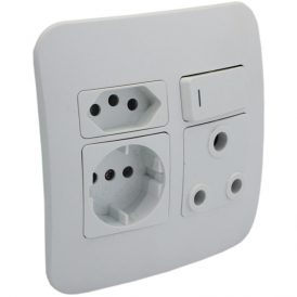 Round 2 Pin Plug Wall Socket 4