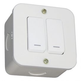 Two Lever One-Way Switch - White 2