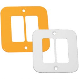 Two Single Module Cover Plate 9
