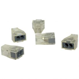Transparent 2 Pole Terminal Block: 5 pcs 5