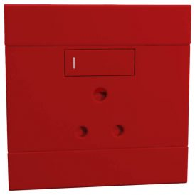 Single Dedicated 16A RSA Socket Red 8