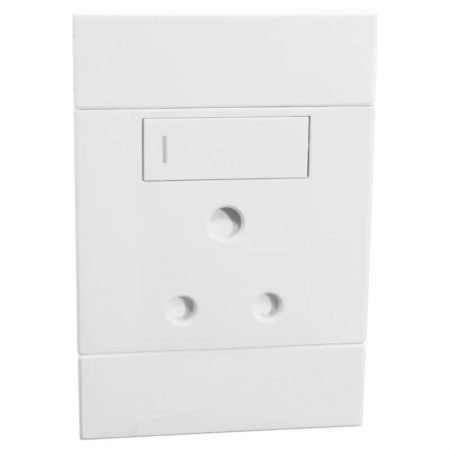 Vertical Single 16A RSA Socket White 1