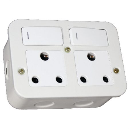 Switched Double 16A RSA Socket Outlet 1