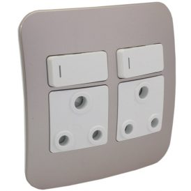 Double Switched Wall Socket 9
