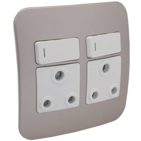 Double Switched Wall Socket 1