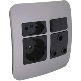 Round 2 Pin Plug Wall Socket 3