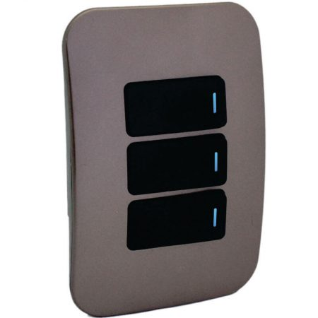 Three Lever One-Way Black Switch Horizontal with Locator 1