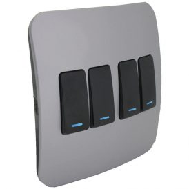 Four Lever One-Way Black Switch with Locator 7