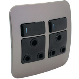 Double RSA Socket Outlet with Indicator 6