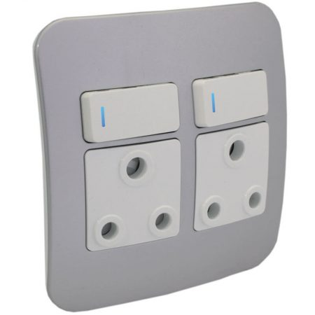 Double RSA Socket Outlet with Indicator 1