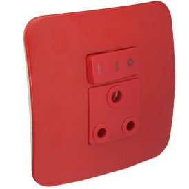 Single Dedicated Red Socket Outlet 6