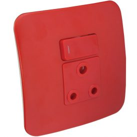Single Dedicated Red Socket With DP Switch 8