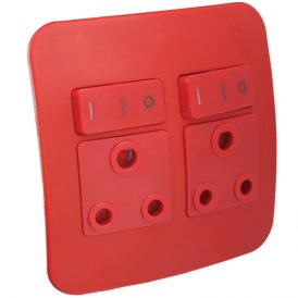 Double Dedicated Red Socket Outlet 3