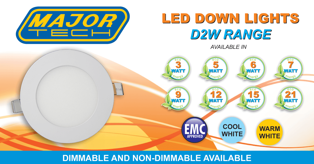 Flicker-Free LED Panel Lights (D2W Range)
