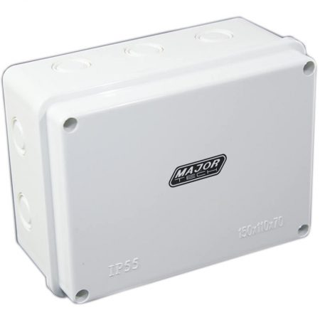 Junction Boxes with Knock Outs (150mm x 110mm x 70mm) 1