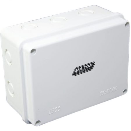 Junction Boxes with Knock Outs (200mm x 100mm x 70mm) 1