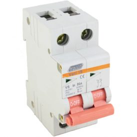 80A Double Pole Isolator 16