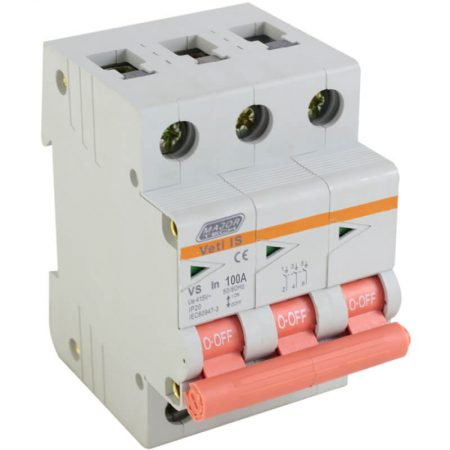 100A Triple Pole Isolator 1