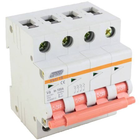 100A Four Pole Isolator 1