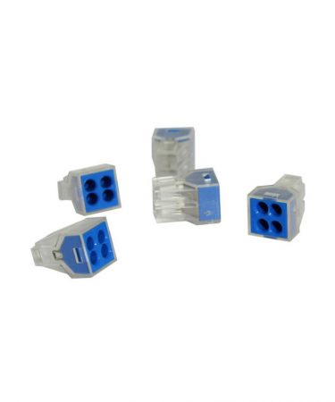 Transparent 4 Pole Terminal Block