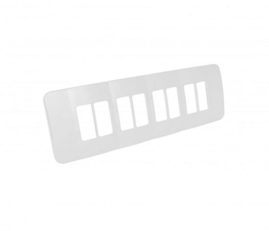 Eight Single Module Vertical Cover Plate