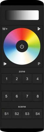 8 Zone Multi Function RGBW Remote Control with Scene Setting